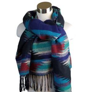 Rue21 Aztec Print Blanket Scarf Fringe One Size